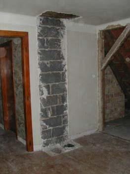 D montage de la chemin e notre maison chantier jour apr s jour - Demonter une cheminee ...
