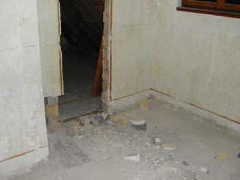 Evacuation de la salle de bain notre maison chantier for Evacuation salle de bain
