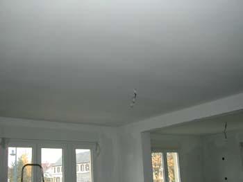 Les joies du placo suite notre maison chantier jour - Peinture plafond trace ...