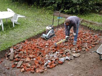 Am nagement ext rieur notre maison chantier jour apr s jour - Que faire avec des vieilles tuiles ...
