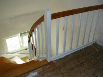 peindre rampe escalier dedans lescalier est peint notre maison chantier jour aprs
